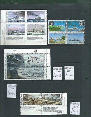 Marshall Islands 16 different se-tenant WWII ships planes all unmounted mint MNH