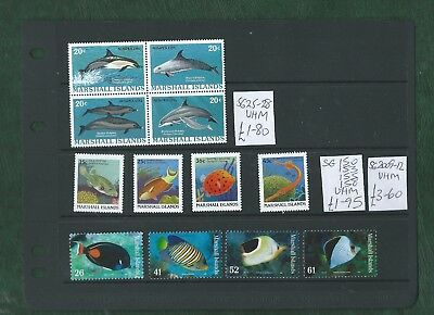 Marshall Islands 12 different Fish stamps some se-tenant all unmounted mint MNH