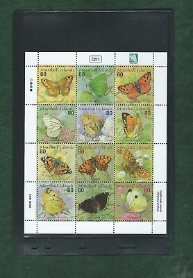 Marshall Islands 2003 Sheetlet of 12 Paintings of Butterflies unmounted mint MNH