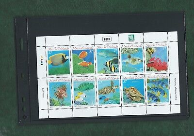 Marshall Islands 2004 Sheetlet of 10 different Fish stamps unmounted mint MNH