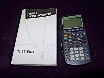 Texas Instruments TI-83 Plus Graphing Calculator w/ Cover & Book