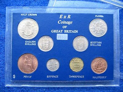 SUPERB 1963 COINAGE OF GB TYPE SET OF 8 COINS 54th BIRTHDAY ANNIVERSARY GIFT