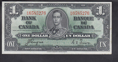 1937 Canada 1$ Dollars Bank Note Coyne/towers