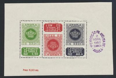 ANGOLA 1950 PHILEX SHEET, VF LH Sc#330a  (SEE BELOW)