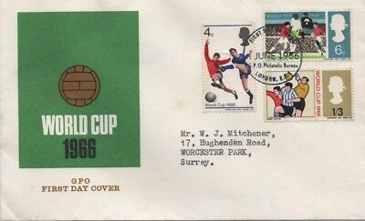 World Cup 1966 Gpo First Day Cover