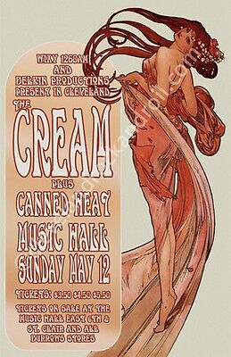 Cream / Canned Heat 1968 Cleveland Concert Poster