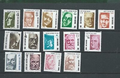 San Marino 1982-83 15 different Pioneers of Science unmounted mint MNH