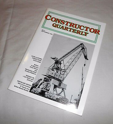 MECCANO CONSTRUCTOR QUARTERLY Issue No.5 SEPTEMBER 1989