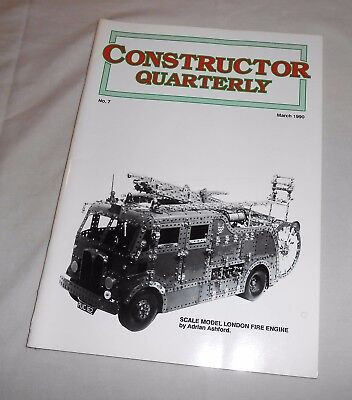 MECCANO CONSTRUCTOR QUARTERLY Issue No.7 MARCH 1990