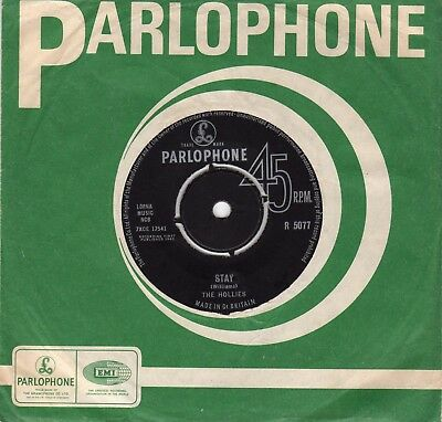 The Hollies......stay....parlophone...uk..45
