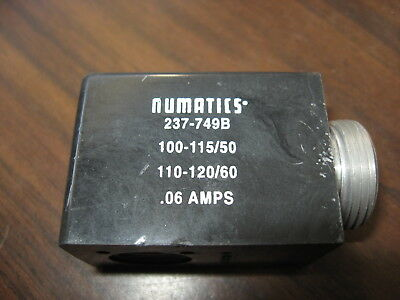 New No Box Numatics 237-749B Solenoid Coil