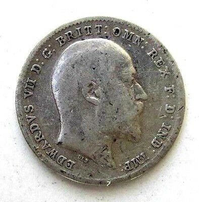 Great Britain Uk Coins, Threepence 1903, Edward Vii, Silver 0.925