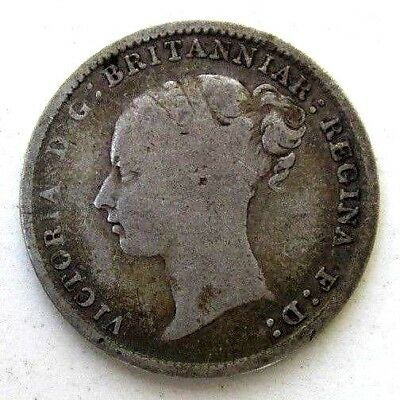 Great Britain Uk Coins, Threepence 1883, Victoria, Silver 0.925
