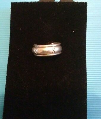 """Solid Silver """"worry"""" Ring"""