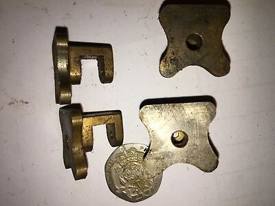 LIVE STEAM BRASS MACHINED CASTINGS 4off