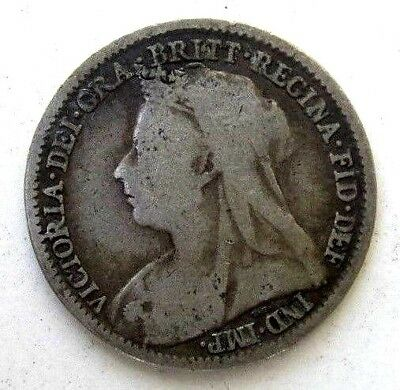 Great Britain Uk Coins, Threepence 1896, Victoria, Silver 0.925