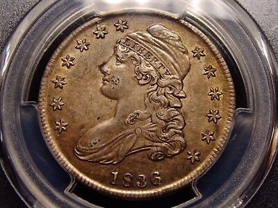 1836 Lettered Edge Capped Bust Half Dollar PCGS AU53 NO RESERVE