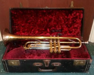 Vintage Cased Boosey & Hawkes Imperial Trumpet (c1934) * Vincent Bach Mouthpiece