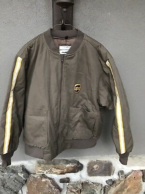 United Parcel Service Ups Brown Thinsulate Uniform Jacket Xl Reflective