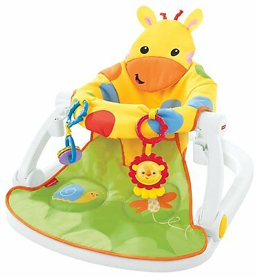 NEW Fisher-Price Giraffe Sit-Me-Up Padded Baby Floor Seat with Rattle & Teether