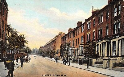 Nw London Primrose Hill Ainger Road Terraced Houses 'our Alley' Printed Card