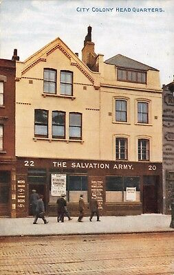 London Whitechapel The Salvation Army City Colony Headquarters Printed Card