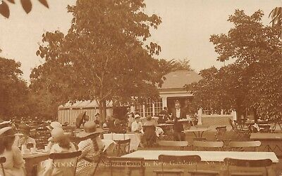 Surrey Kew Gardens Refreshment Garden Outside Waiter Brings Food Photo Card