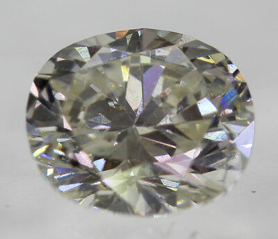 Certified 0.48 Carat J VS2 Oval Enhanced Natural Loose Diamond 4.51x5.24mm 2VG