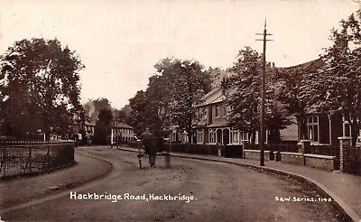 Surrey Hackbridge Road Hackbridge Horse Cart & Red Lion Pub Beyond Photo Card