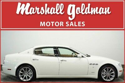 2007 Maserati Quattroporte  2007 Maserati Quattroporte Executive GT White with tan only 8,100 miles