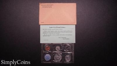 1960 Proof Set ~ Original Envelope With COA ~ US Mint Silver Coin Lot SKU-658