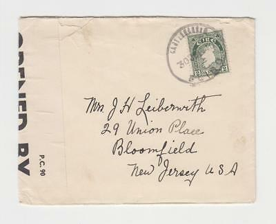 IRELAND-USA 1940, CENSOR (5449) COVER, 2d RATE (SEE BELOW)
