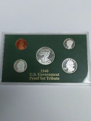 1940 US Government PROOF Set Tribute - 5 Coin Silver Proof Set