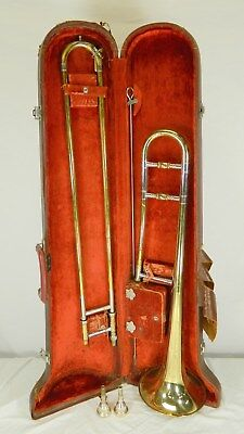 1960-65 King Cleveland Superior Trombone, S/n C156539, 2 Mouthpieces, Hard Case
