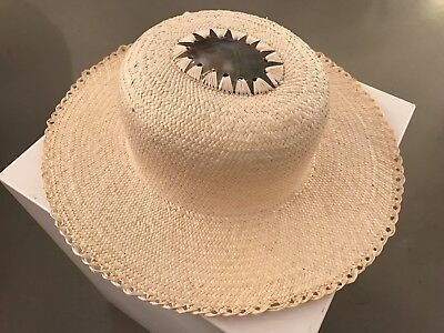 Beautifully Handwoven Heirloom Cook Islands Pandanus Hat - No Reserve!