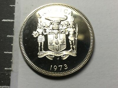 JAMAICA 1973 20 Cent coin Proof