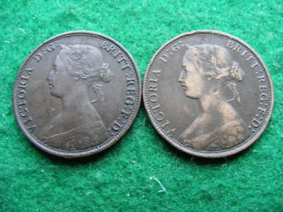 Canada New Brunswick 1 Cent Lot of 2: 1861 & 1864