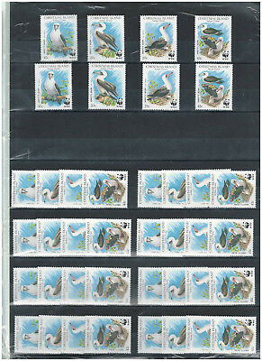10 x CHRISTMAS ISLAND, Indian Oceans, Stamps, WWF, Nature, Birds, Vogel, MINT NH