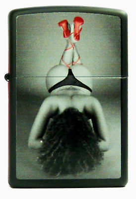 ZIPPO Pin Up with Red Shoes Babe lighter - nice collectible item