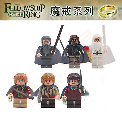 6 PCS Lord of the Rings Minifigures Gandalf Samwise Aragorn No Box Fit lego #1
