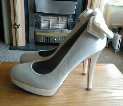 """Next Ivory 5"""" High Heel Wedding Shoes  , Size 5 , Rrp £40"""