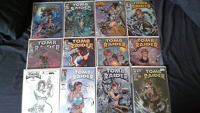12 TOMB RAIDER comic books- #2- #9 with variations