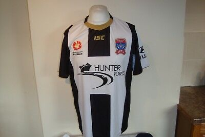 Newcastle United Jets 2013-14 Away Football Shirt Large Mens ISC