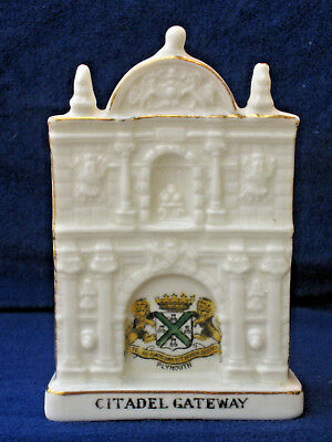 Crested China Citadel Gateway - Matching Plymouth crest