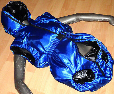 Wattierter 4 Zip Satin+Folienbody *pvc Weichfolie Glanznylon*rubber-Body *lxl