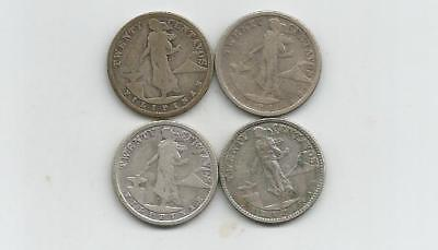 Ncoffin Us Territory 1918S 1920 1921 1929M Philippines 20 Centavos .750 Silver