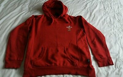 Mens Red WRU Hoody/Top - Size Adult Small - VGC!