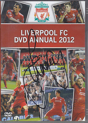 Jamie Carragher Signed Liverpool Dvd Annual 2012