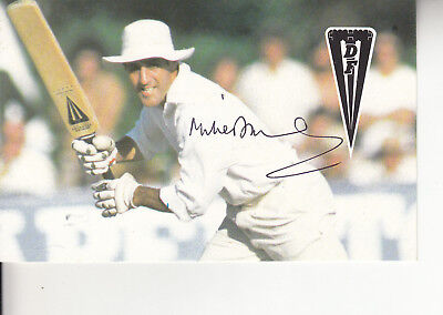 Mike Brearleycricket Signed Picture