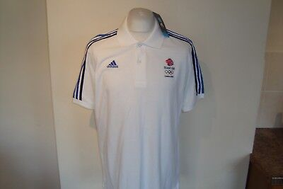 BNWT Adidas London 2012 Team GB Athlete Polo Shirt Large Mens Great Britain New